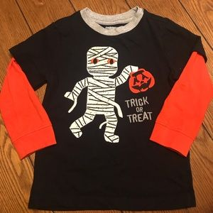 Halloween Mummy Appliqué Shirt